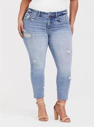 High Rise Straight Leg Jean - Light Wash