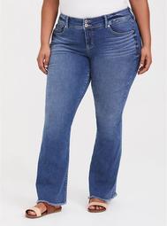 Flared Flip Flop Jean - Medium Wash