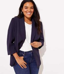 LOFT Plus Shawl Collar Blazer