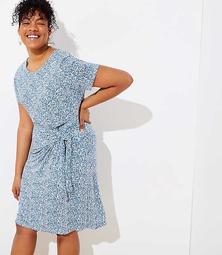 LOFT Plus Garden Tie Waist Dress