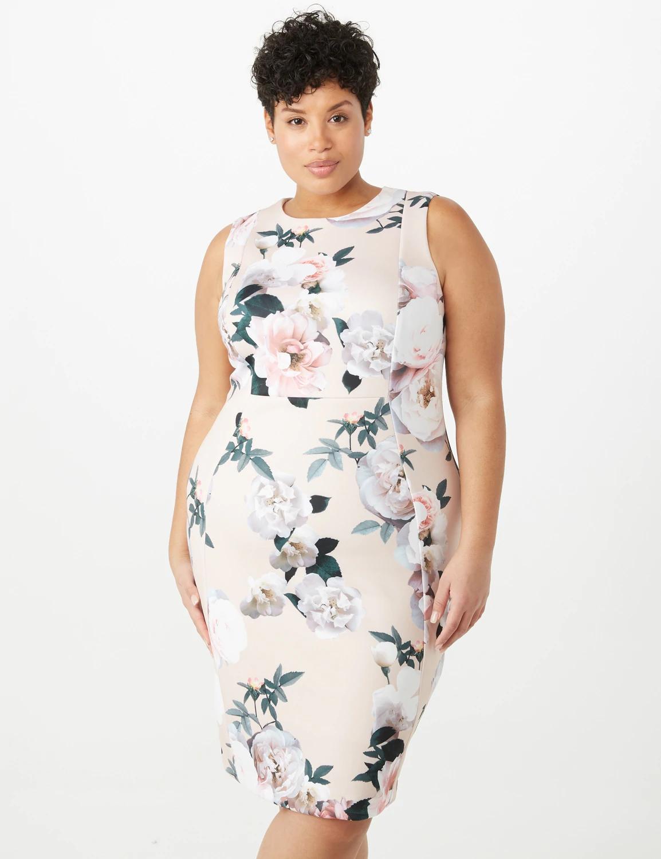 Dressbarn Iconic American Designer Plus Size Floral Sheath Dress |