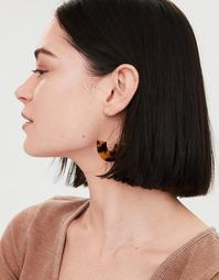 AEO Tort Crescent Hoop Earring
