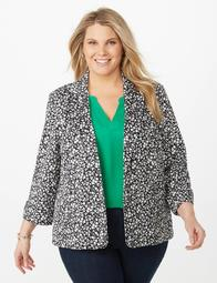 Dressbarn Plus Size Floral Scuba Blazer - On Sale for $32.97 (regular  price: $48.99)