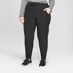 """Women's Plus Size Woven Mid-Rise Train Pants 29"""" - C9 Champion®"""