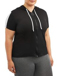 Women's Plus Size Active Short Sleeve Hoodie