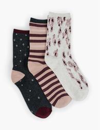 Leopard Crew Socks