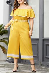 Yellow Off-The-Shoulder Jumpsuit