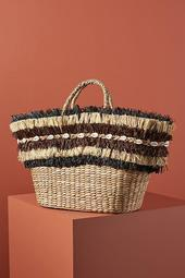 Aranaz Maika Fringed Basket Bag