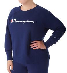 Champion Plus Size Powerblend Fleece Graphic Pullover GF914Y