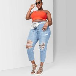 Women's Plus Size Asymmetrical Cropped Tank top - Wild Fable™
