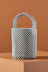 Theodora Beaded Basket Bag