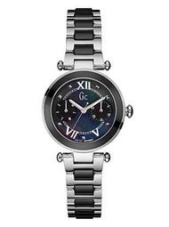 Gc Silver & Black Ceramic Timepiece