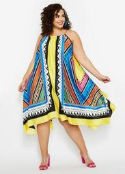 Abstract Handkerchief Dress
