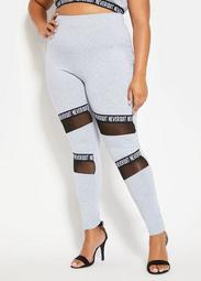 Active Legging With Mesh And Taping