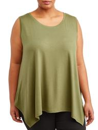 Women's Plus Size Scoopneck Swing Tank