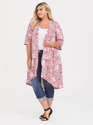 Floral Hi-Lo Sweater Kimono