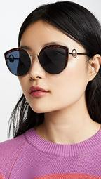 Logo Trim Cat Eye Sunglasses