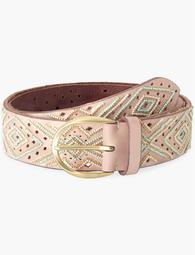 Geo Bead Perforated Belt
