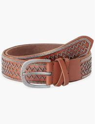 Geo Metal Beaded Belt
