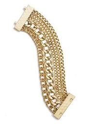 Gold-Tone Layered Chain Bracelet