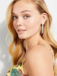 Blanca Gold-Tone Enamel Hoop Earrings