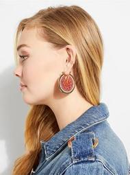 Gold-Tone Watermelon Earrings