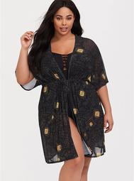 Harry Potter Marauders Map Kaftan Swim Cover-Up