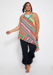 Abstract Asymmetrical Tunic