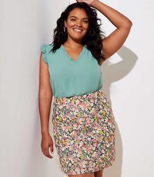 LOFT Plus Floral Shift Skirt