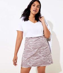 LOFT Plus Zebra Shift Skirt