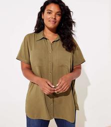 LOFT Plus Short Sleeve Shirt