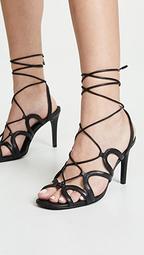 Scallop Heel Sandals