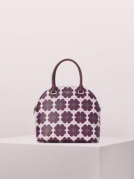 Sylvia Graphic Clover Large Dome Satchel