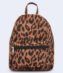 Animal Print Mini Backpack
