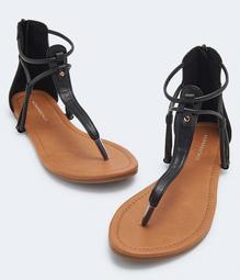 Neutral Embossed Gladiator Sandal