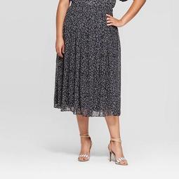 Women's Plus Size Flowy Side Zipper Mid Rise Skirt - Who What Wear™