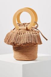Lara Woven Bucket Bag