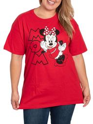 Disney Minnie Mouse MOM T-Shirt Red (Women's Plus)