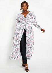 Newspaper Diva Tunic