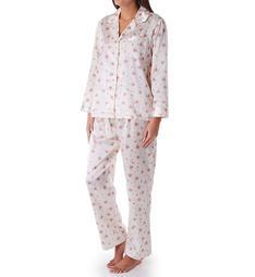 KayAnna Printed Brushed Back Satin Pajama Set B15186F