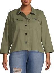 Women's Plus Size Swing Twill Jacket