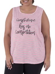 Women's Plus Size Active Graphic Tank