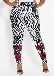 Knit Zebra Legging