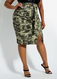 LA LA Anthony Camo Skirt