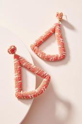 Deepa Beaded Triangle Drop Earrings