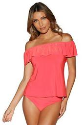 Off The Shoulder Two-Piece Tankini