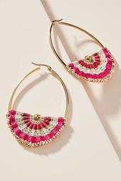 Kerry Embroidered Hoop Earrings