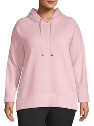 Athletic Works Women's Plus Active Pullover Fleece Hoodie