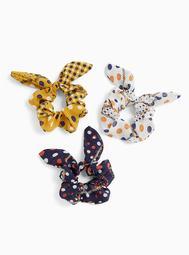 Polka Dot & Metallic Thread Hair Tie Pack - Pack of 3