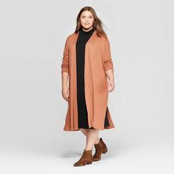 Women's Plus Size Long Sleeve Open Layering Cardigan - A New Day™